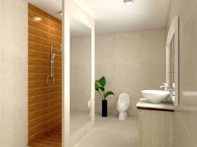Computer Generated Image Of a Clients Bathroom