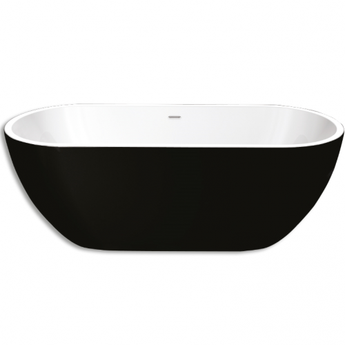 Bay Black Freestanding Acrylic Bath