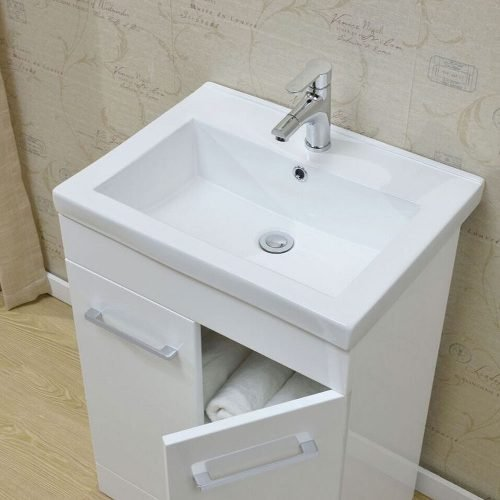 Lima Gloss White 600 Floor & Basin Unit