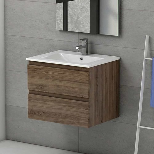 Viena Oak 600 Wall Hung Unit & Basin