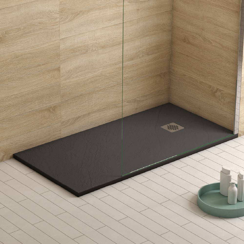 1200 x 900 Anthracite Slate Shower Tray - TileHaven