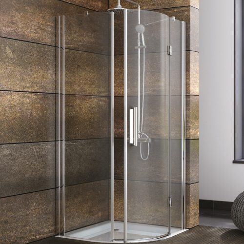 900mm Frameless Hinged Quadrand