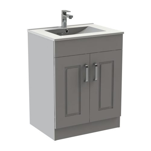 Trinity 600 Matte Grey Floor Unit & Basin