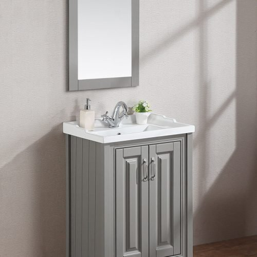 Cottage 800mm 2 Door Vanity Unit Ivory