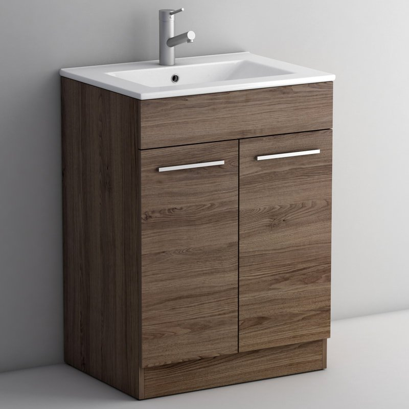 LIMA WALNUT 600 FLOOR UNIT/BASIN