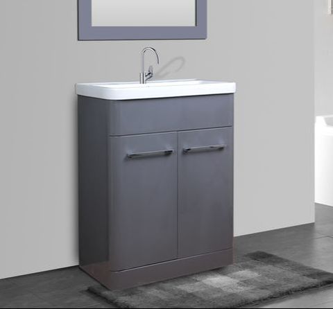 PARIS GREY GLOSS 600 FLOOR UNIT/BASIN