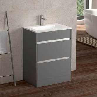 Sky 600 Floor Unit - Matte Grey