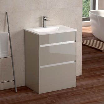 Sky 600 Floor Unit - Mocha Gloss