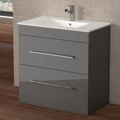SORENTO 800MM FLOOR UNIT & BASIN