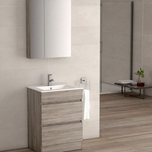 VIENA GREY ASH MIR CABINET600 LIGHT