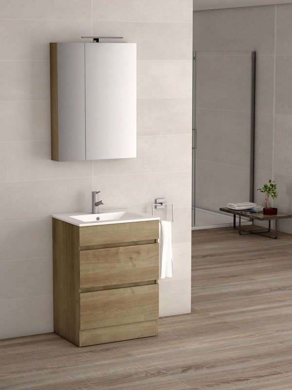 VIENA OAK 600 FLOOR UNIT/BASIN