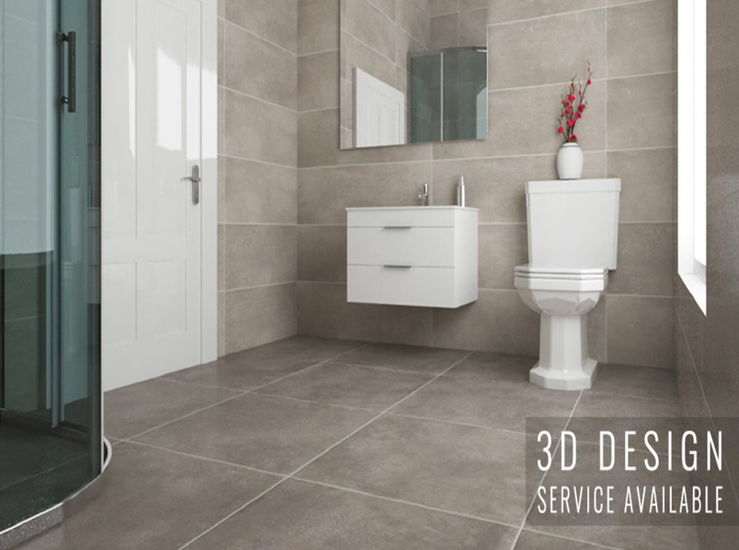 ... We Create A 3D Rendering Of Your New Bathroom Design.